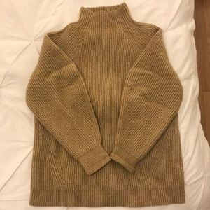 Camel colored H&M Mock Neck Oversized Sweater